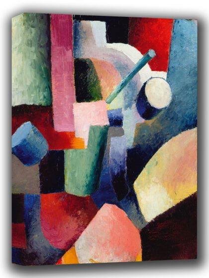 Macke, August: Coloured Composition of Forms. Fine Art Canvas. Sizes: A4/A3/A2/A1 (002178)